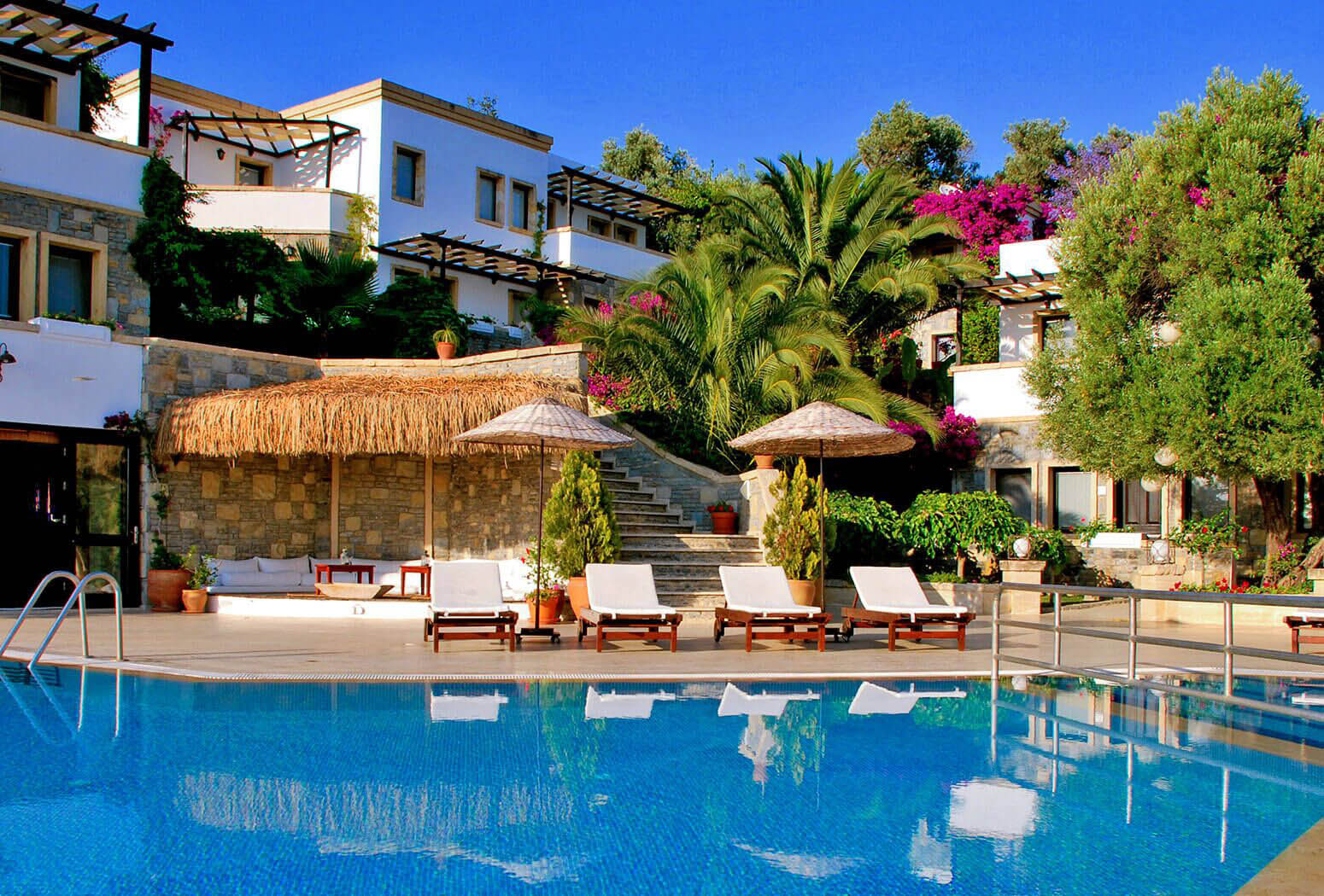 One of the Best Small Boutique Hotels in Bodrum Yalikavak | 4reasons' view from Pool