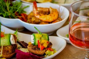 Fish Tapas on Bread by bistro4 by Boutique Hotel 4reasons